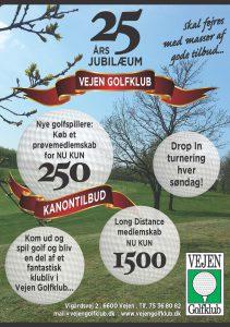 A5 Vejen Golfklub 2018 - tilpasset uden fritspilskort